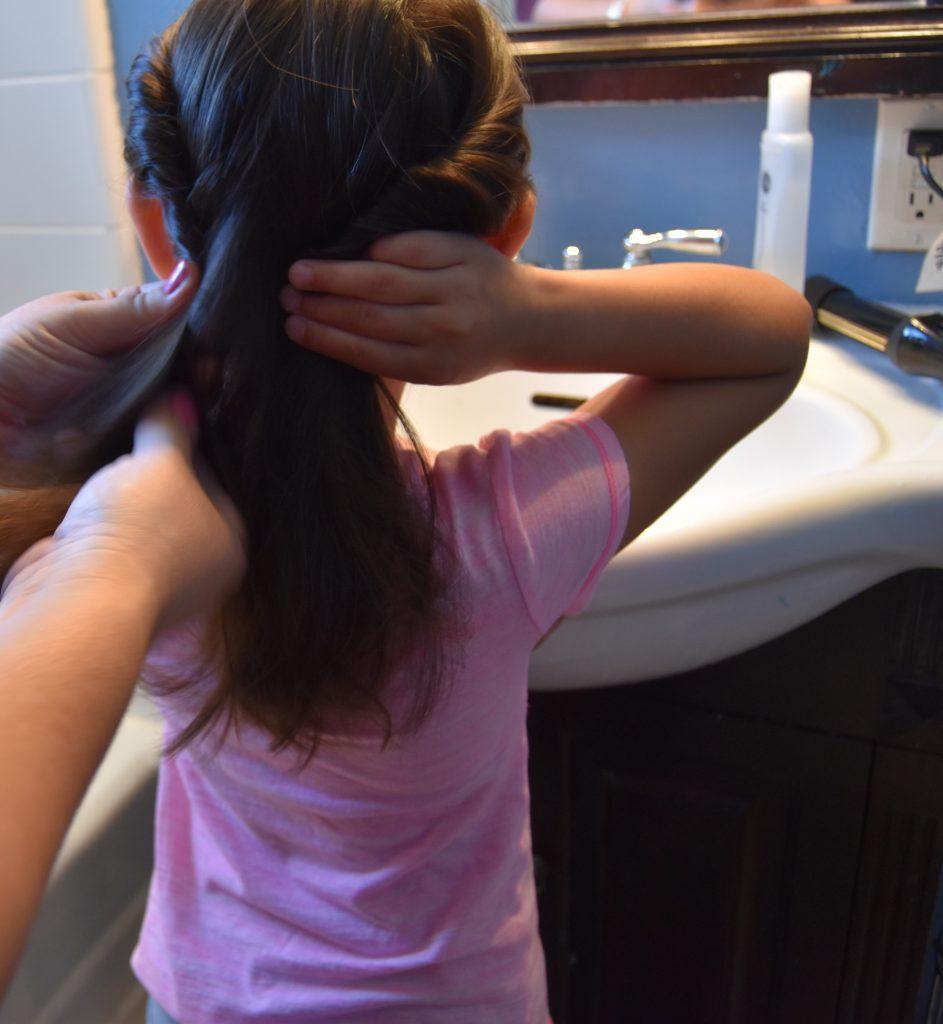 Hair twist on left side