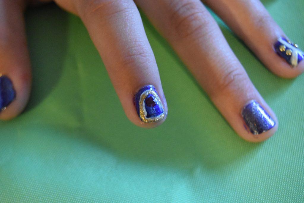 Enchanted rose nail art
