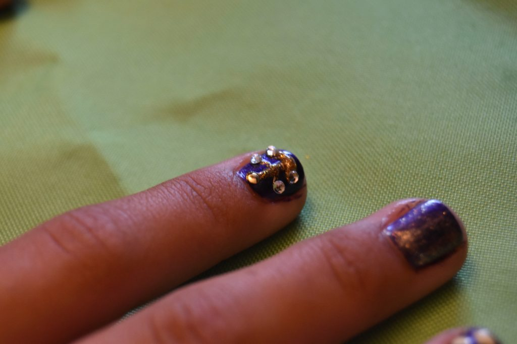 Beauty and the Beast Chandelier nail art