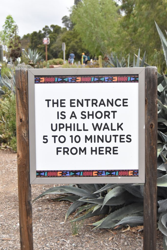 San Diego Zoo Safari Park Parking Sign