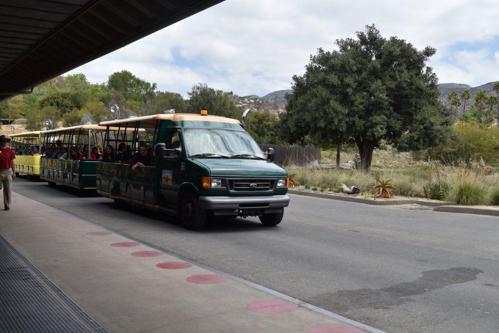 Tram at the San Diego Zoo Safari Park