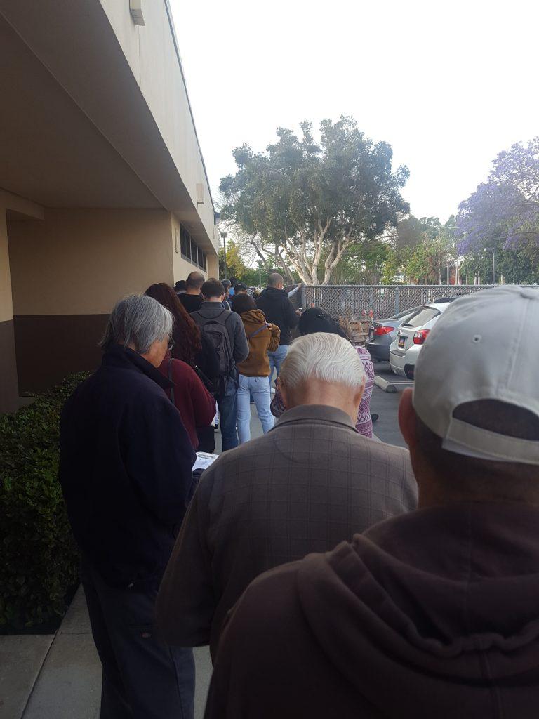 California DMV Line