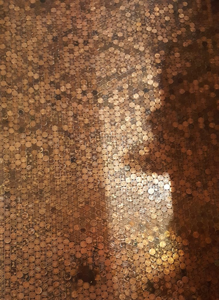 Penny Floor at The Last Book Store SoCal Day Trip Downtown LA