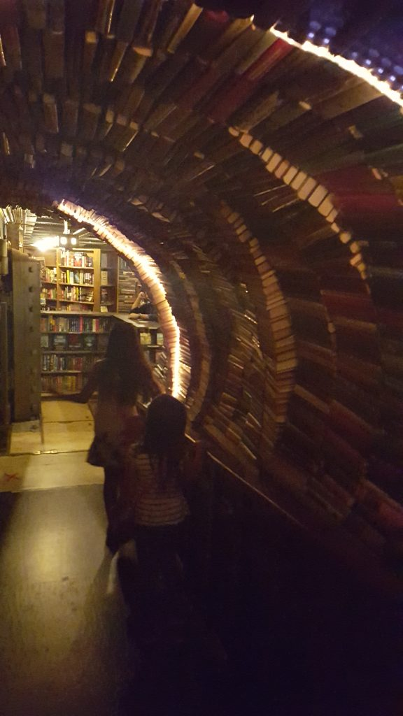 Book Tunnel at The Last Book Store-SoCal Day Trip Downtown LA