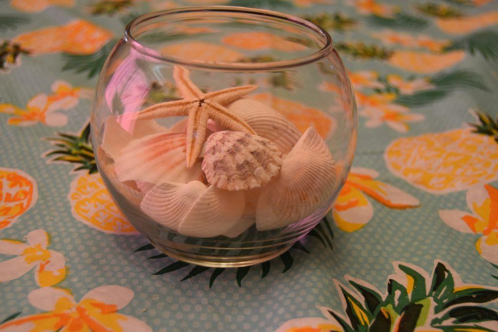 Beach Party Centerpiece -Jar O'Shells