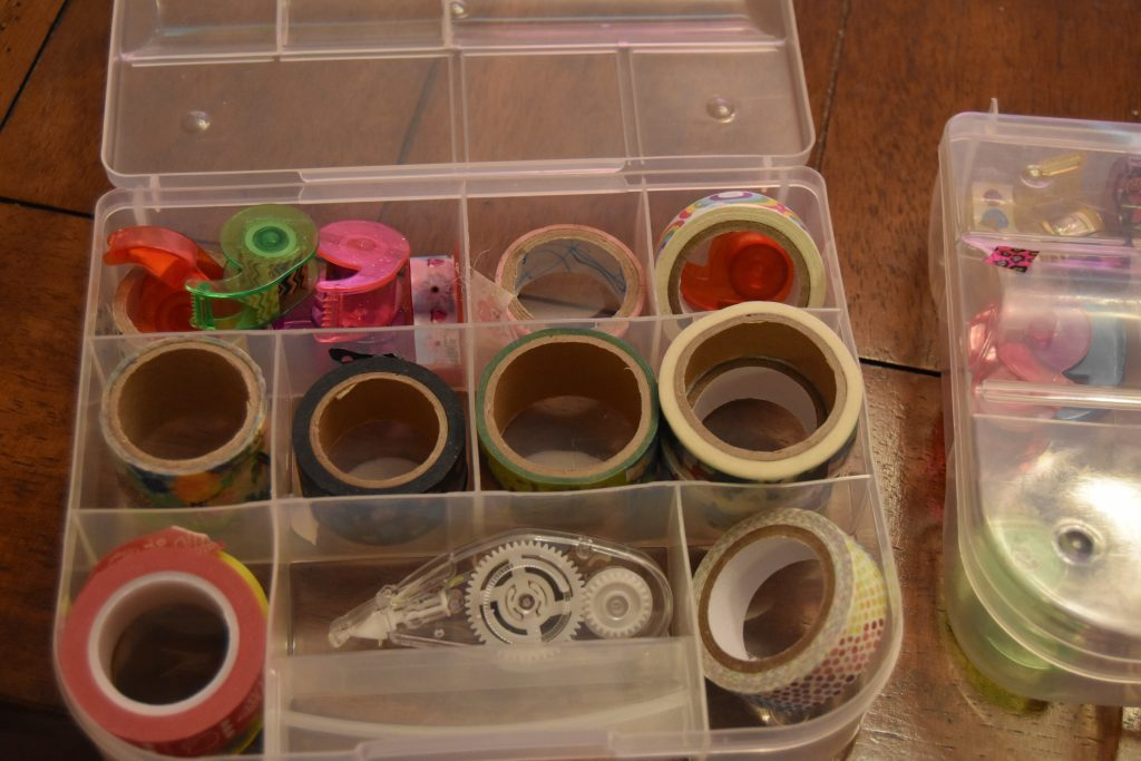 Craft cart and homework station-Washi tape and stamp organizer