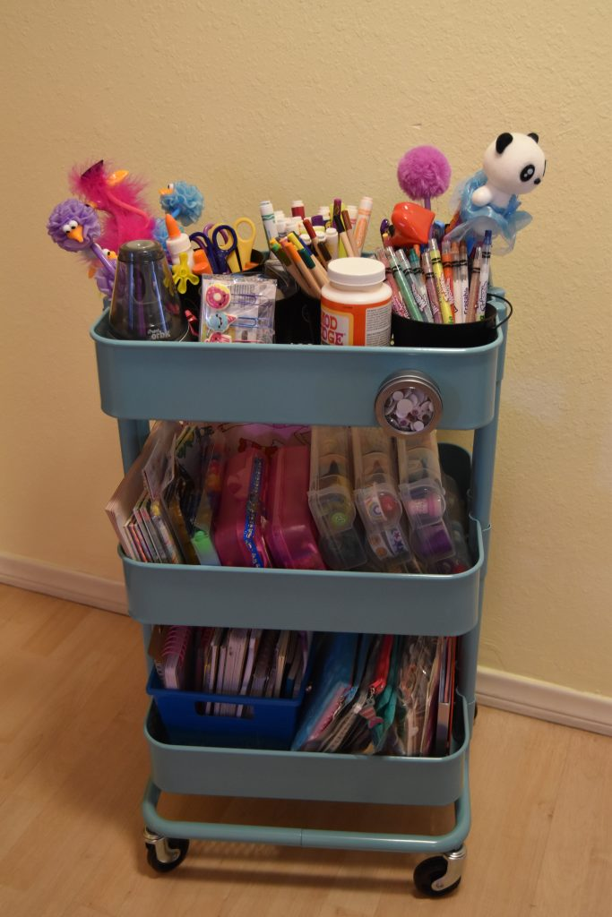 Craft cart and homework station