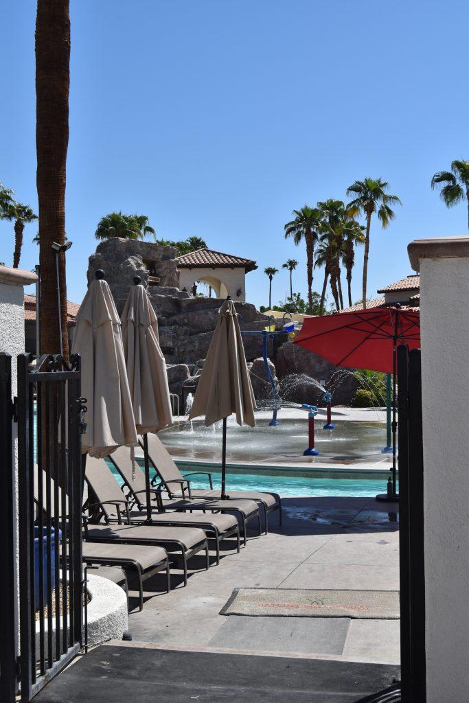 Omni Rancho Las Palmas-gate between pool and lazy river