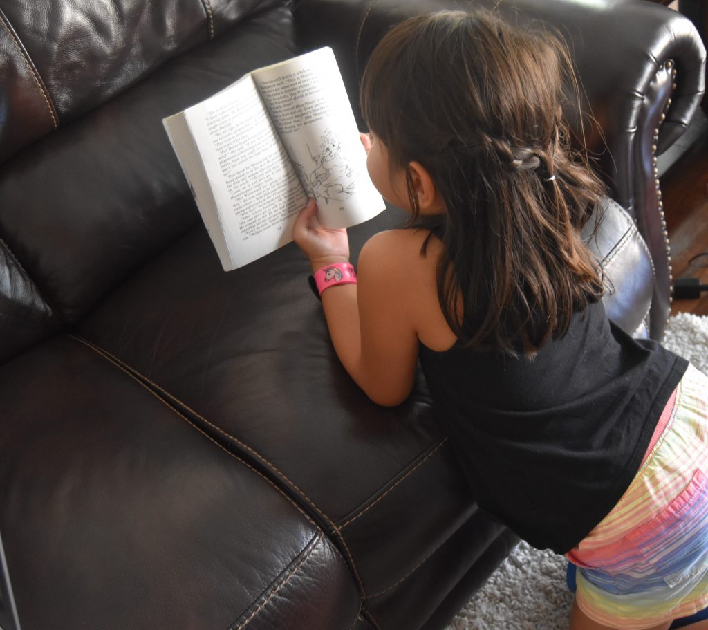 Homework Help- Kid reading on the couch