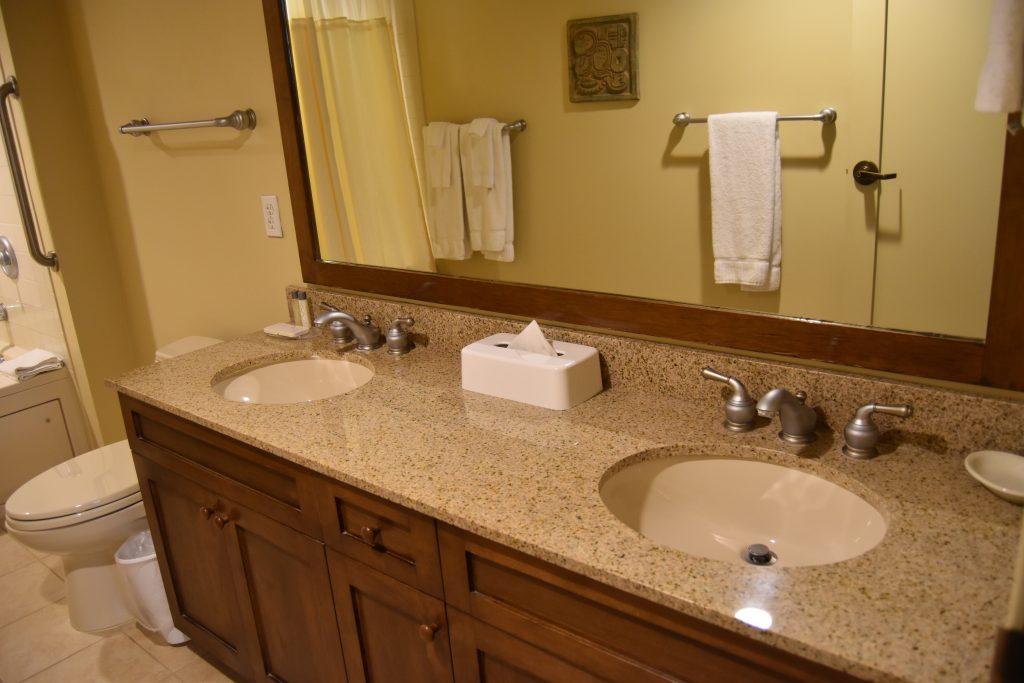 Master bathroom sinks in Cancun Vegas resort