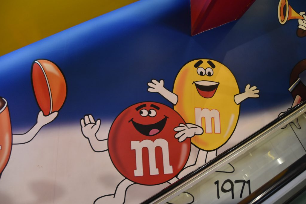 M&M cartoons from 1970s