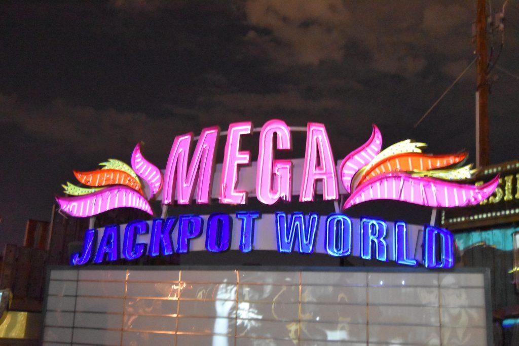 Brilliant Neon Museum-unrestored sign in the Brilliant! gallery (lit)