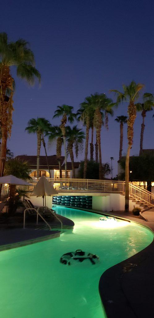 Omni Rancho Las Palmas-Splashtopia at night