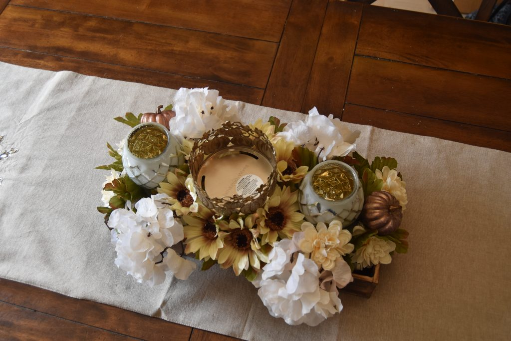 Easy DIY Fall Centerpiece-Top view