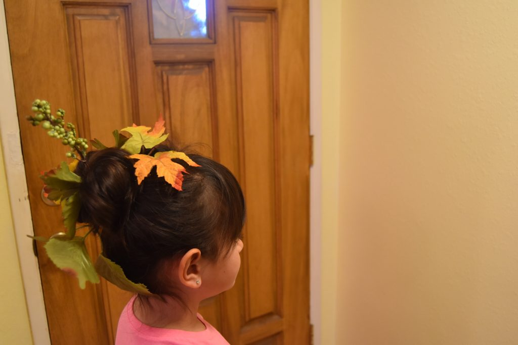 Fall-Inspired Crazy Hair Day Style