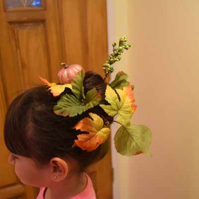 Fall-Inspired Crazy Hair Day DIY Style