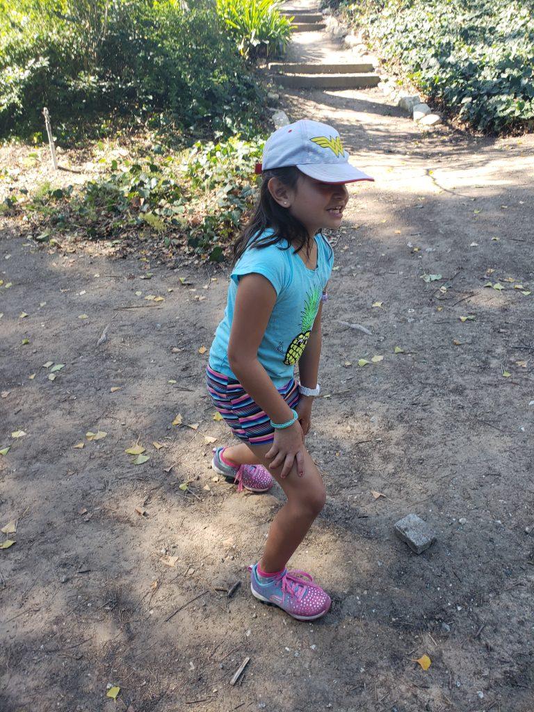 The Great Pumpkin Hunt at South Coast Botanic Garden-Tired kid