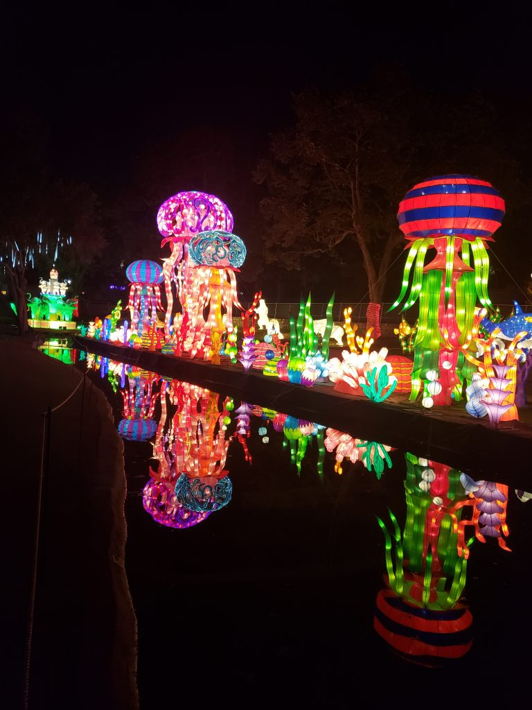 Jellyfish lanterns at The Chinese Lantern Festival