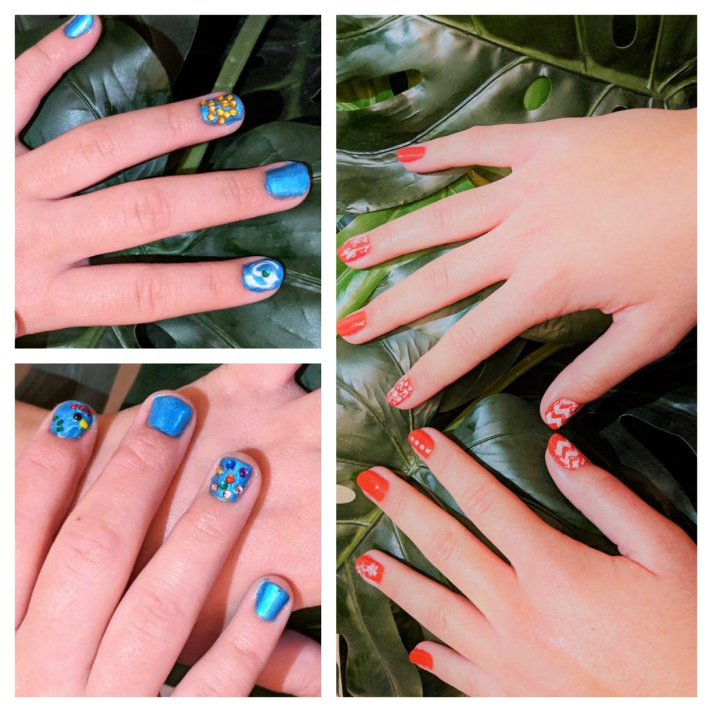 Disney Moana Inspired DIY Manicures