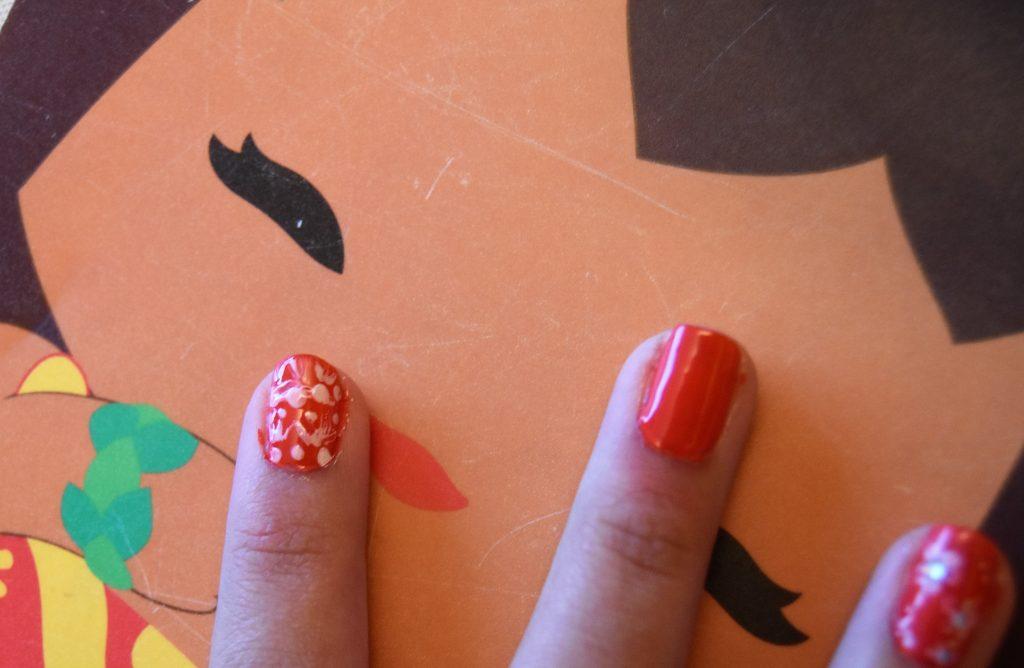 Disney Moana Inspired DIY Manicure