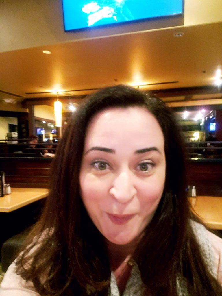 BJ's Enlightened Menu- Surprised woman getting carded