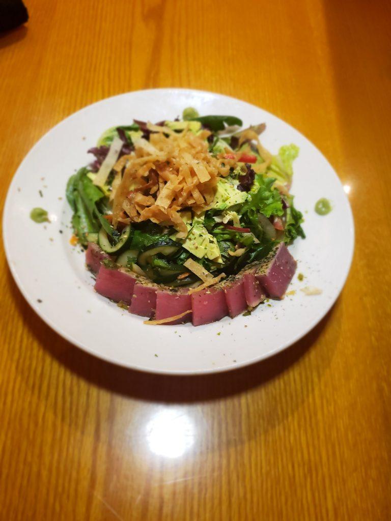 BJ's Enlightened Menu- Enlightened Seared Ahi Salad