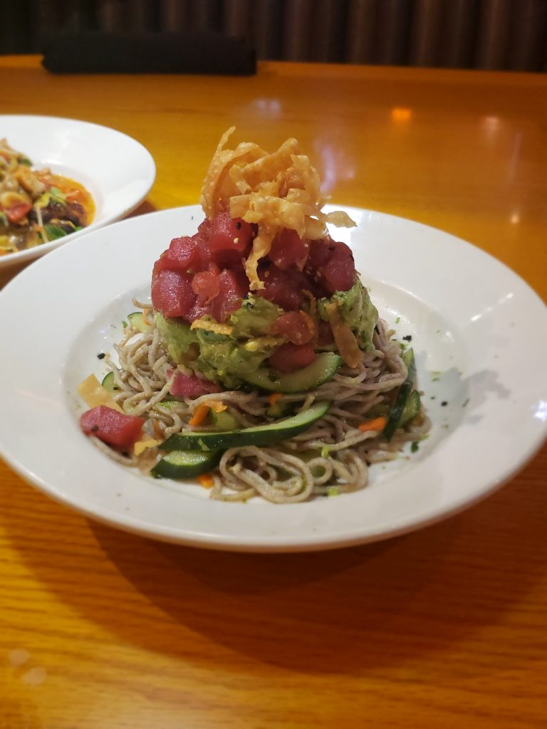 BJ's Enlightened Menu- Enlightened Pacific Poke with Soba Noodles