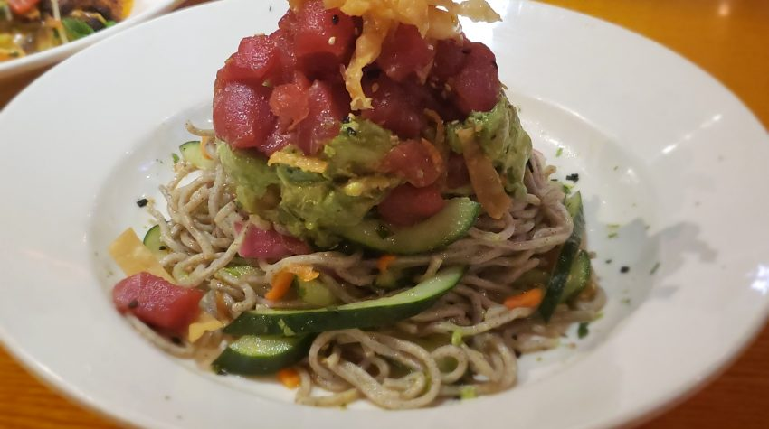 BJ's Enlightened Menu- Ahi with Soba Noodles
