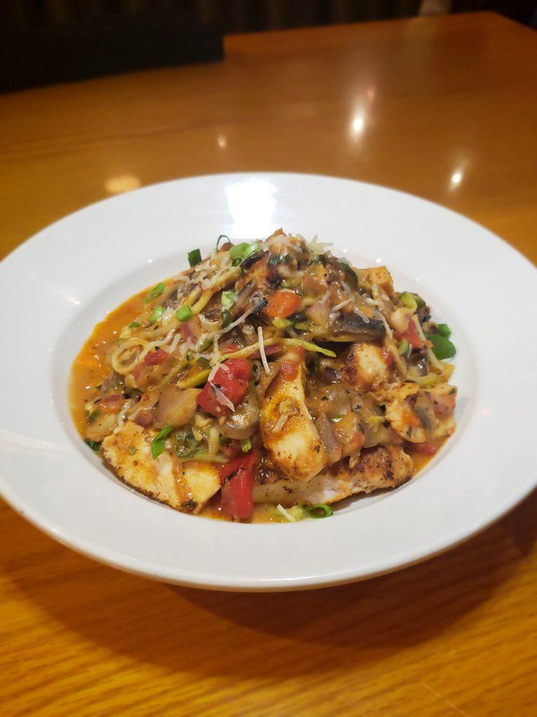 BJ's Enlightened Menu- Ahi with Soba Noodles