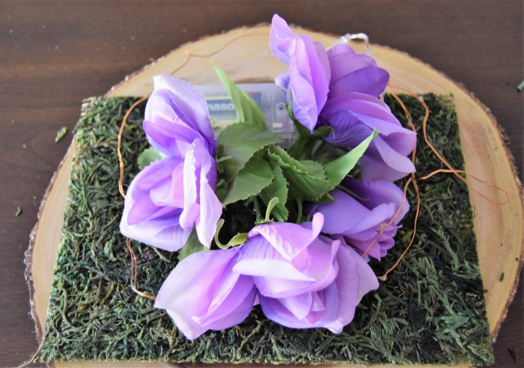 Flowers arranged in a circular pattern-Fairy Cloche Centerpiece DIY