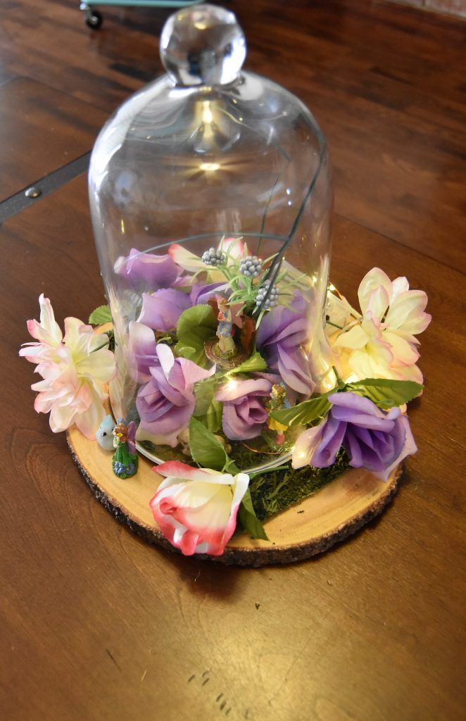 Alternate view of the Fairy Cloche Centerpiece-Fairy Cloche Centerpiece DIY