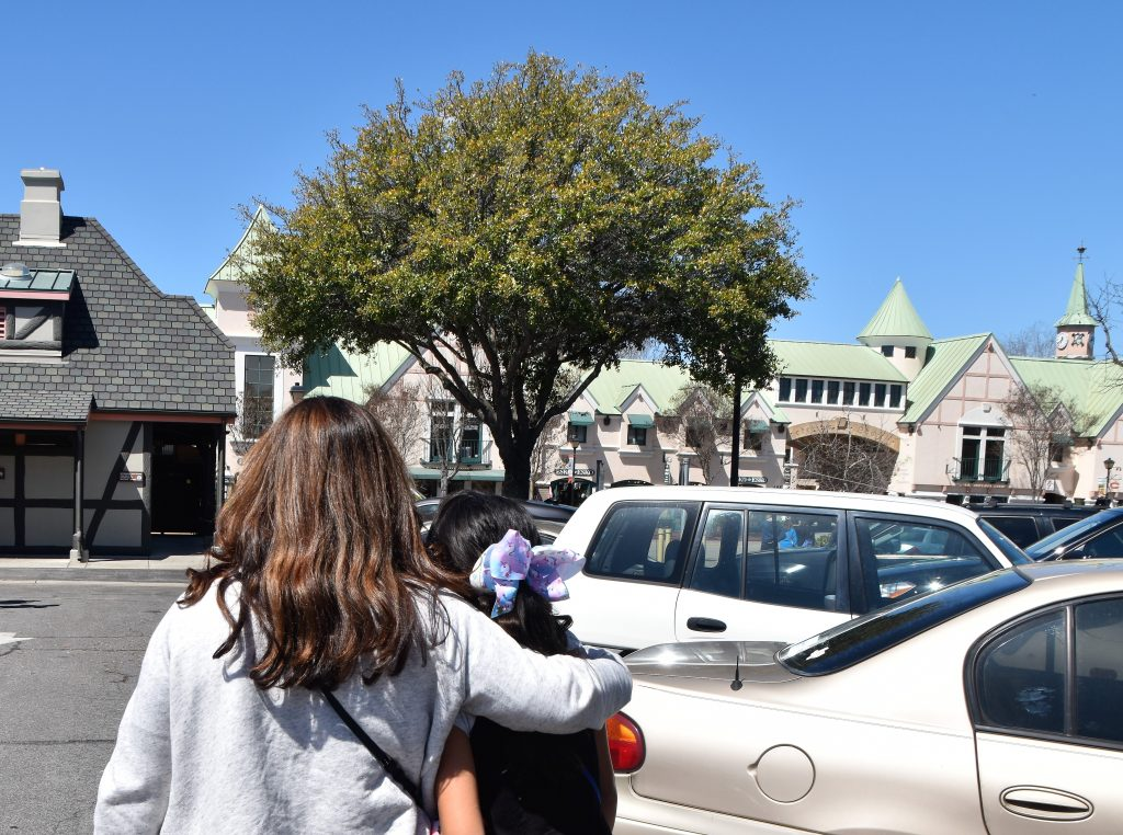 Mother and Daughter enjoying eachother's company-Solvang Danish Village: Is It Worth It?