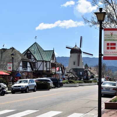 Windmill and street in Solvang-Solvang Danish Village: Is It Worth It?