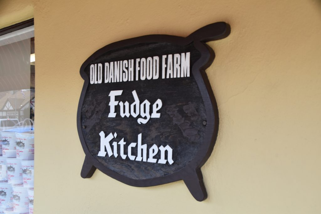 Fudge shop sign-Solvang Danish Village: Is It Worth It?