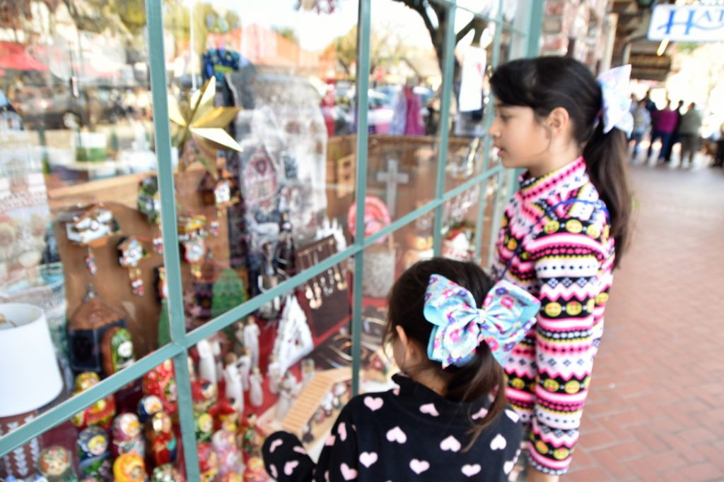 Girls window shopping-Solvang Danish Village: Is It Worth It?