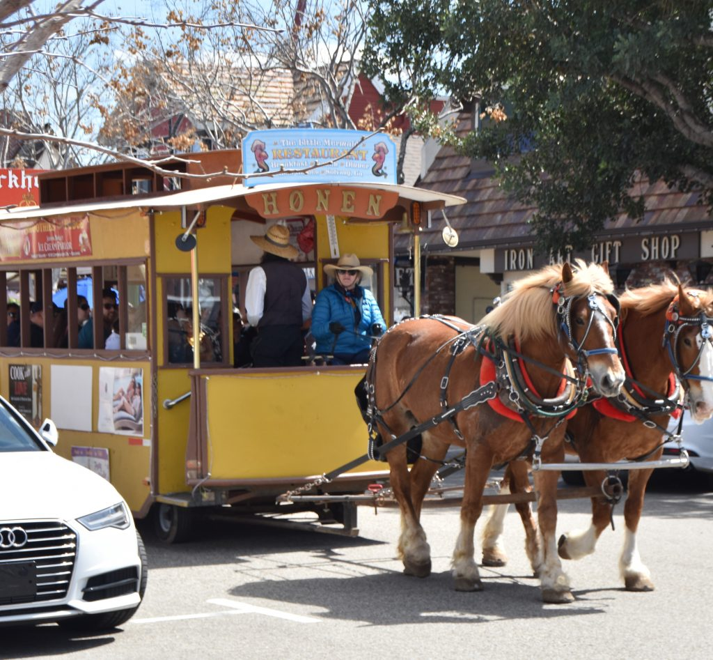 Horse-drawn trolley-Solvang Danish Village: Is It Worth It?