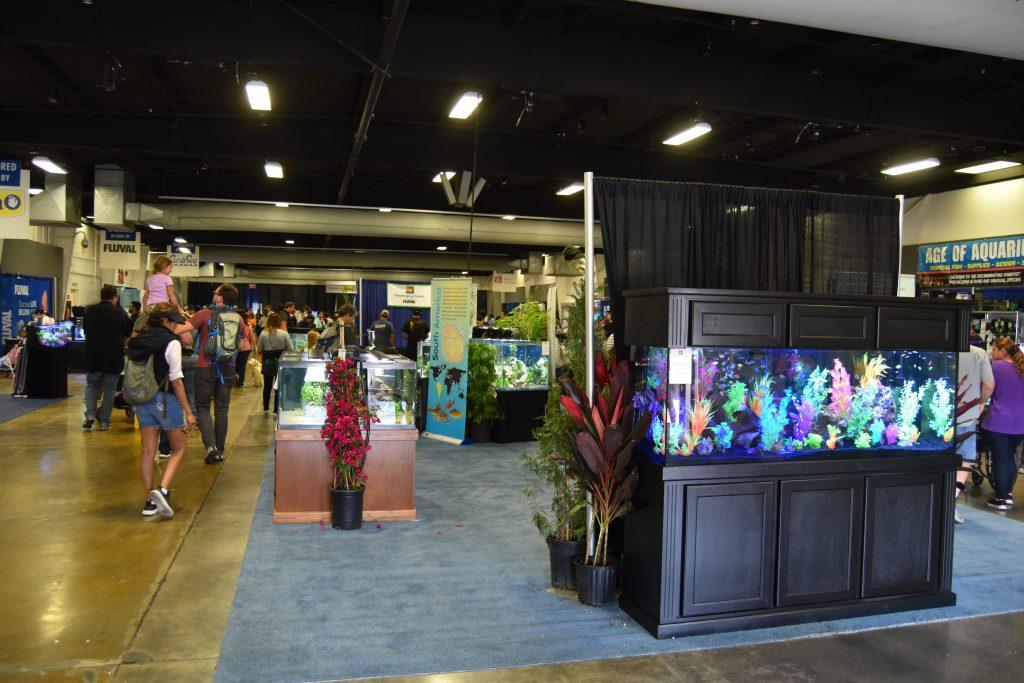 Aquatics section at America's Family Pet Expo