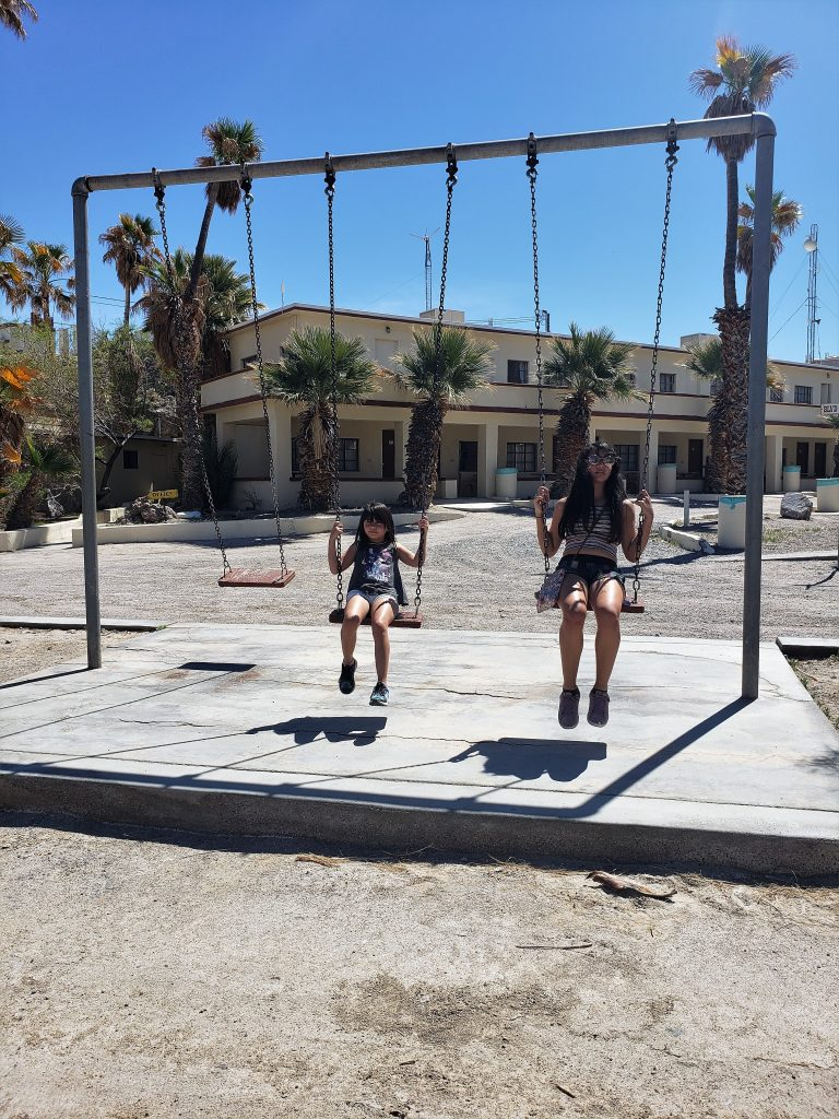 Swings at Zzyzx end of road