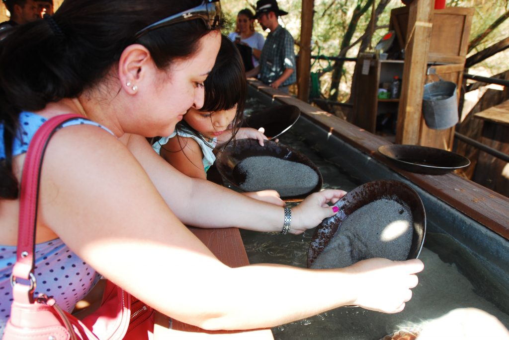 Panning for gold at Calico