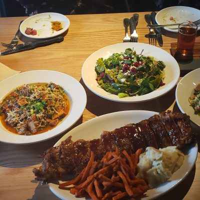 Several menu items at BJ's Brewhouse Woodland Hills