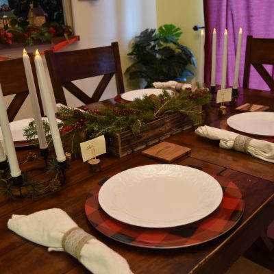 Holiday Tablescape DIY: Rustic and Plaid