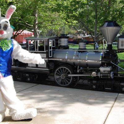 Train at the Irvine Park Railroad Eggstravaganza!