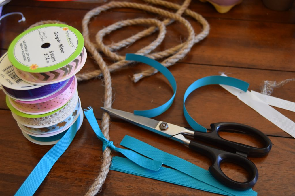 Supplies needed for Ribbon rope