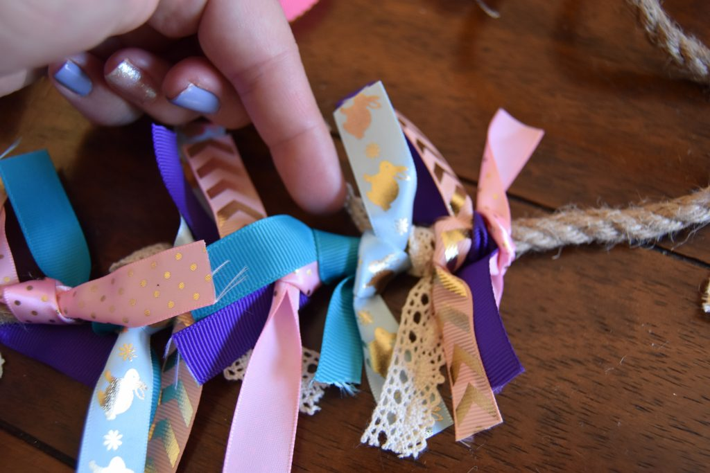 Ribbon rope- Easy DIY Easter Decor