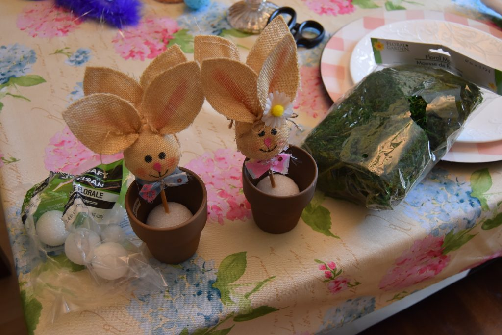 Bunny pots- Easy DIY Easter Decor