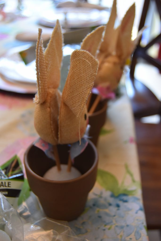 Bunny pot- Easy DIY Easter Decor