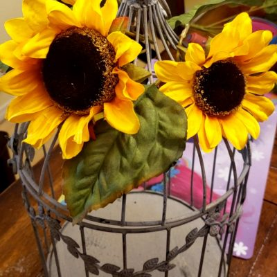 Sunflower Birdcage DIY for Fall!