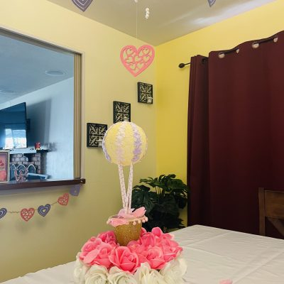 Whimsical Valentine's DIY Hot Air Balloon and Hearts