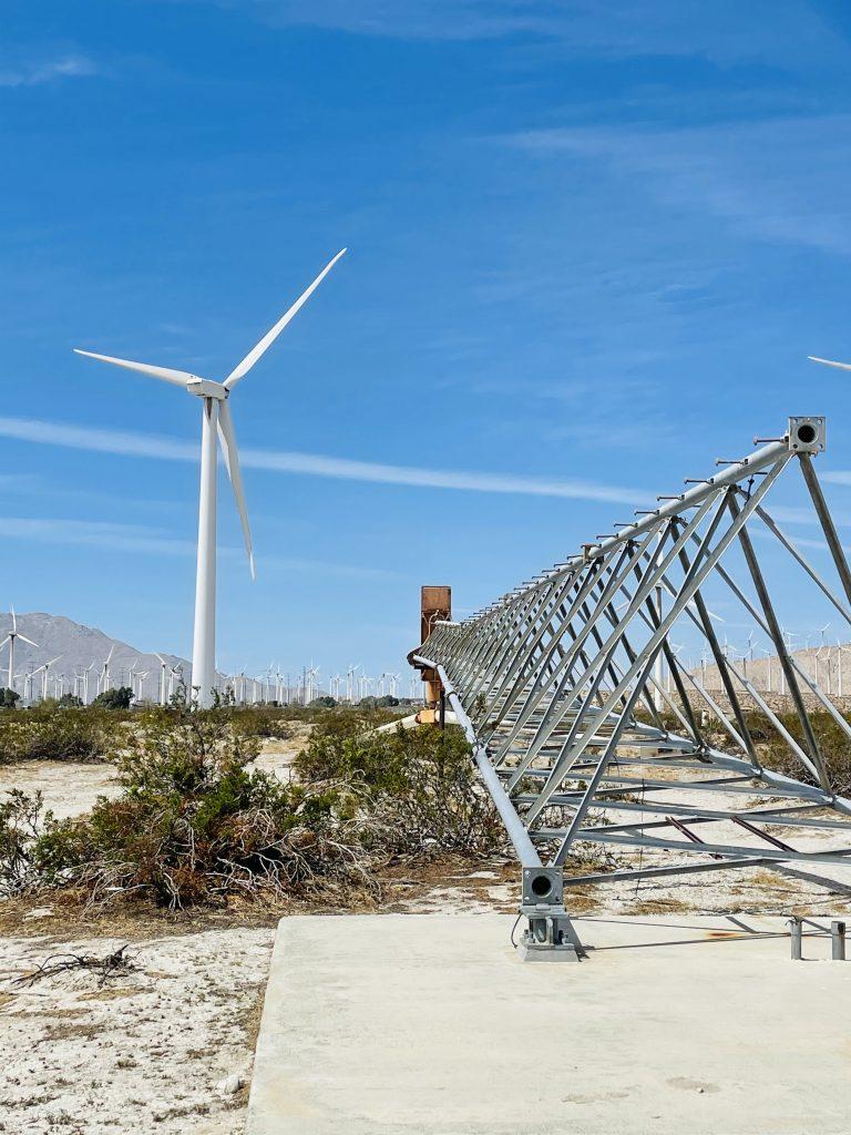 Failed windmill technology on display